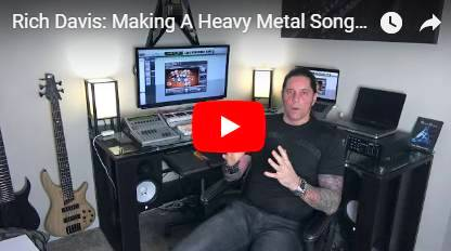 Rich Davis - Making of a Heavy Metal Song/Video #1